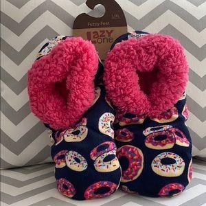 Lazy One Donut Fuzzy Feet Slippers
